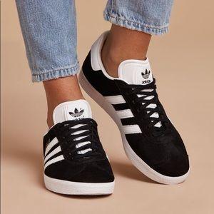 Black Gazelle Suede Sneakers